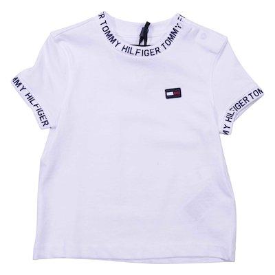 White cotton jersey t-shirt