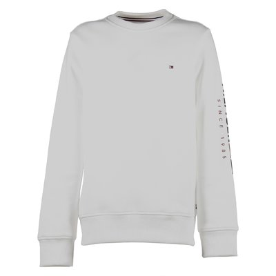 White logo cotton blend sweatshirt