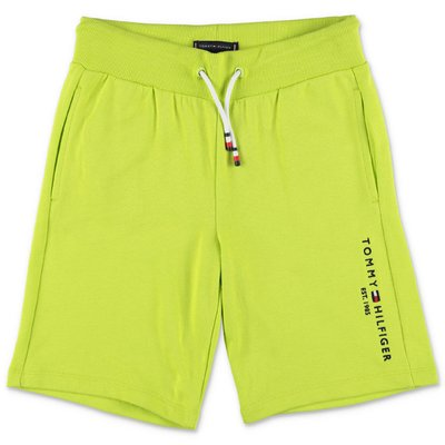 Tommy Hilfiger green cotton sweat shorts