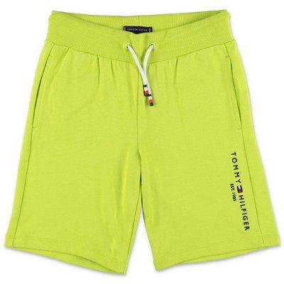 Tommy Hilfiger shorts verdi in felpa di cotone