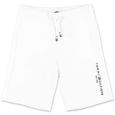 Tommy Hilfiger white cotton sweat shorts