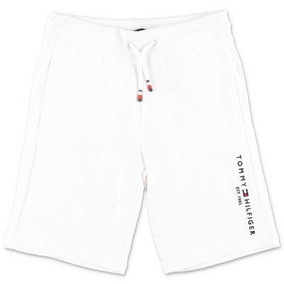 Tommy Hilfiger shorts bianchi in felpa di cotone