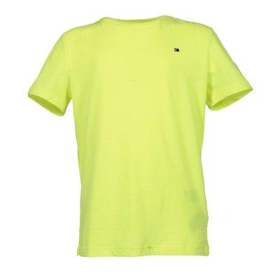Tt-shirt giallo fluo in jersey di cotone  con dettaglio logo