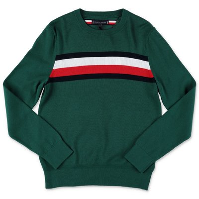 Tommy Hilfiger green cotton knit jumper