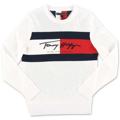 Tommy Hilfiger white cotton knit jumper