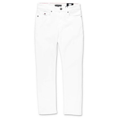Tommy Hilfiger jeans bianchi in denim di cotone stretch