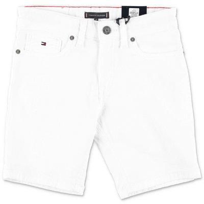Tommy Hilfiger shorts bianchi in denim di cotone stretch