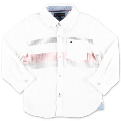 Tommy Hilfiger camicia bianca in cotone