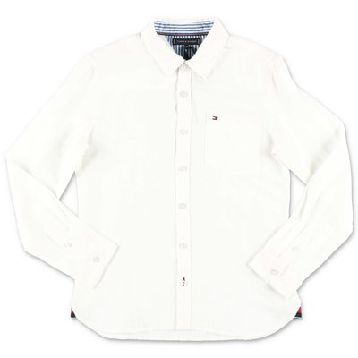 Tommy Hilfiger white cotton & linen shirt