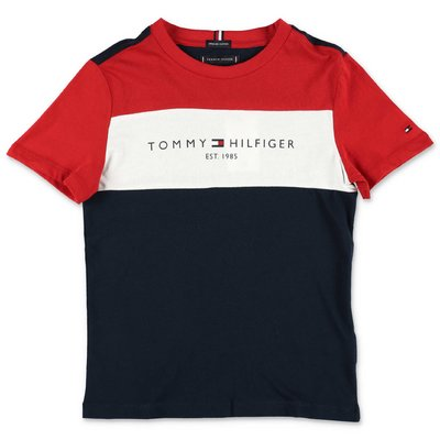 Tommy Hilfiger t-shirt color block in jersey di cotone