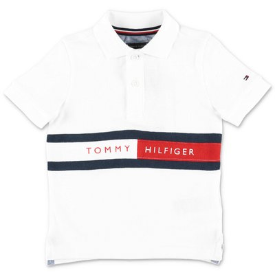 Tommy Hilfiger white cotton piquet polo shirt