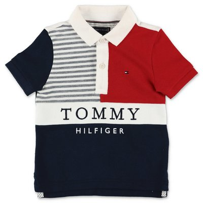 Tommy Hilfiger polo color block in piquet di cotone