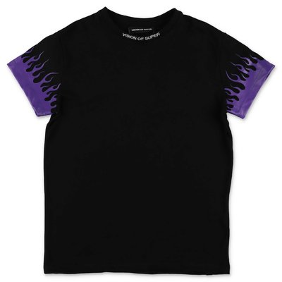 Vision of Super black cotton jersey t-shirt
