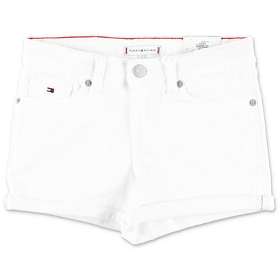 Tommy Hilfiger shorts bianchi in denim di cotone stretch