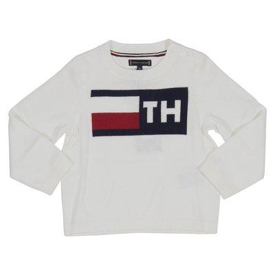 타미 힐피거 로고 인타르시아 스웨터