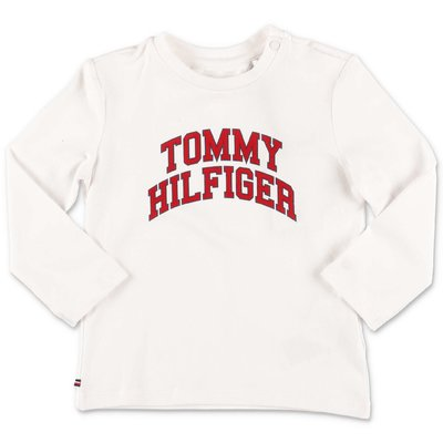 Tommy Hilfiger white logo detail organic cotton jersey t-shirt