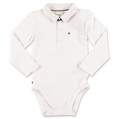 Tommy Hilfiger white organic cotton jersey bodysuit
