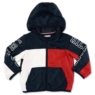 Tommy Hilfiger color block nylon hooded anorak