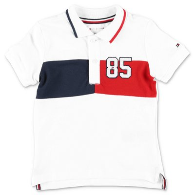 Tommy Hilfiger white cotton piquet polo