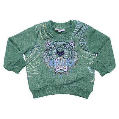Green cotton sweatshirt