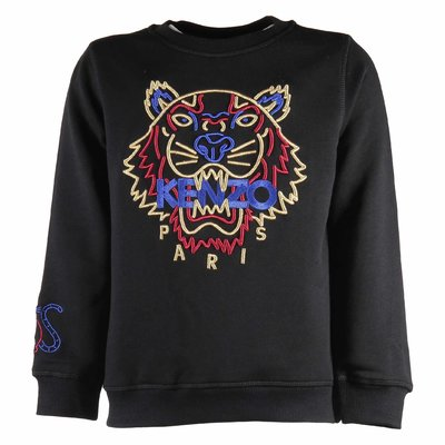 Black Exclusive Edition Chinese New Year cotton embroidred tiger sweatshirt