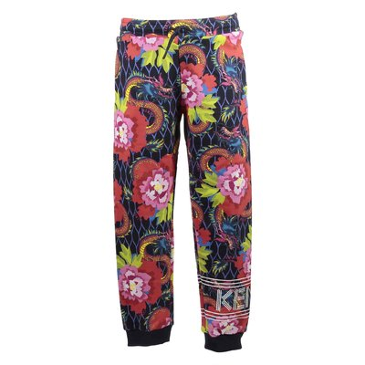 Printed cotton sweatpants