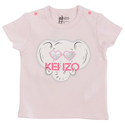 Pink cotton jersey Elephant t-shirt