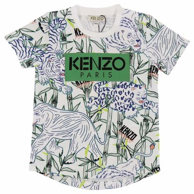 Jungle theme logo detail cotton jersey t-shirt