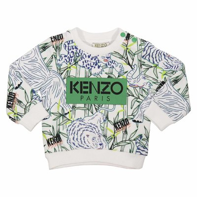 Jungle print cotton sweatshirt