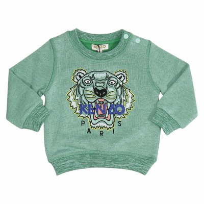Green cotton Tiger sweatshirt