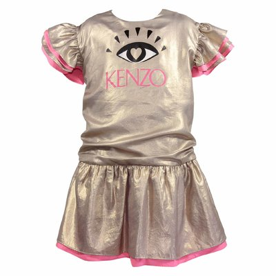 Golden logo techno dress