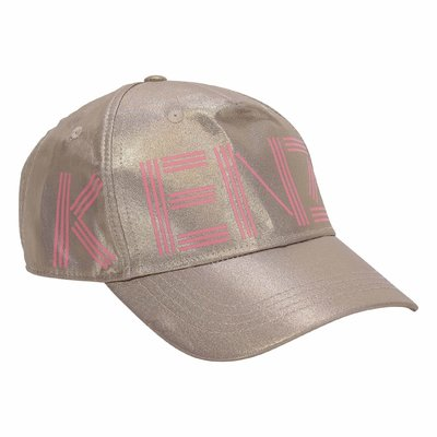 Gold baseball cap