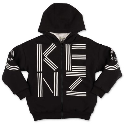 KENZO black cotton hoodie