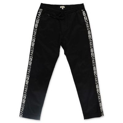 KENZO black logo detail cotton pants