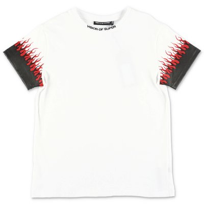 Vision of Super white cotton jersey t-shirt