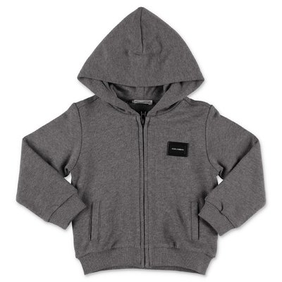 Dolce & Gabbana dark grey cotton hoodie