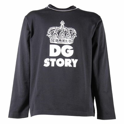 DG Story dark blue cotton jersey t-shirt