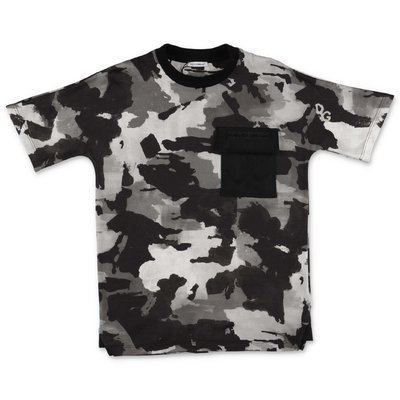 Dolce & Gabbana t-shirt camouflage in jersey di cotone