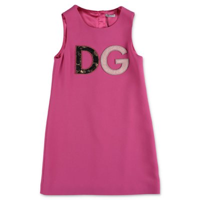 Dolce & Gabbana fuchsia viscose blend dress