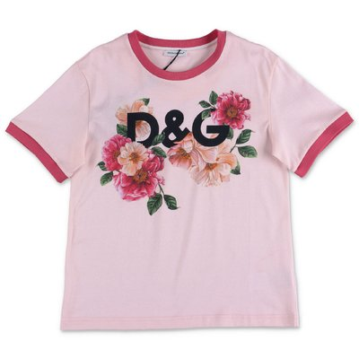 Dolce & Gabbana Power Pastel pink cotton jersey t-shirt
