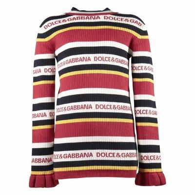 Pullover in maglia di cotone e cashmere jacquard