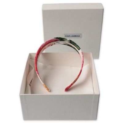 Dolce & Gabbana cerchietto stampa floreale tema power pastel