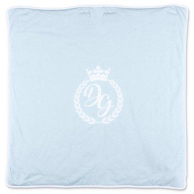 Dolce & Gabbana coperta azzurra in jersey di cotone