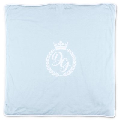 Dolce & Gabbana light blue cotton jersey blanket