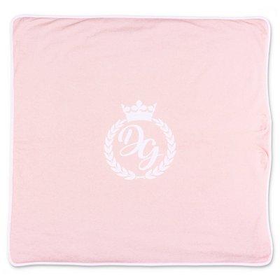 Dolce & Gabbana pink cotton jersey blanket