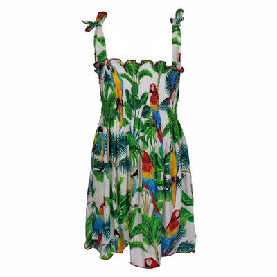Jungle printed  viscose cover-up