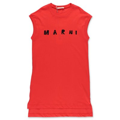 MARNI red cotton jersey dress