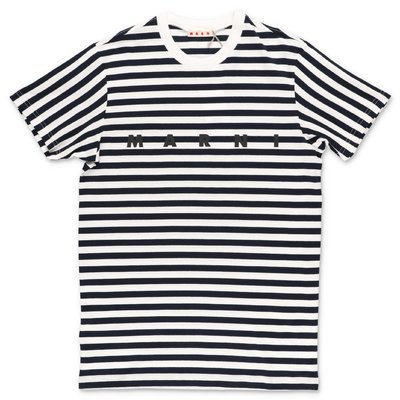 MARNI striped cotton jersey t-shirt