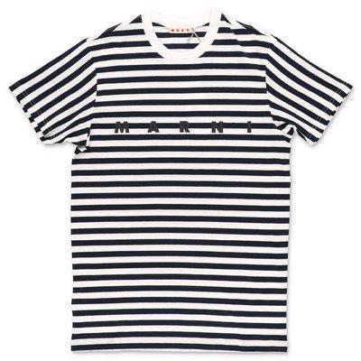 MARNI t-shirt a righe in jersey di cotone