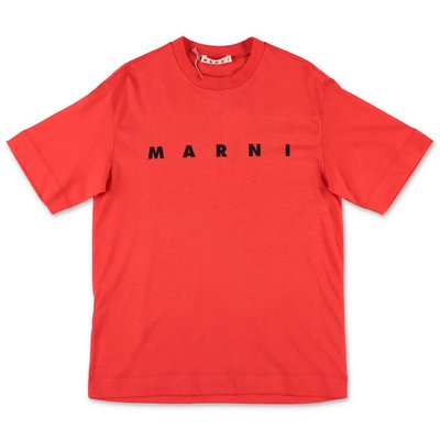 MARNI red cotton jersey t-shirt